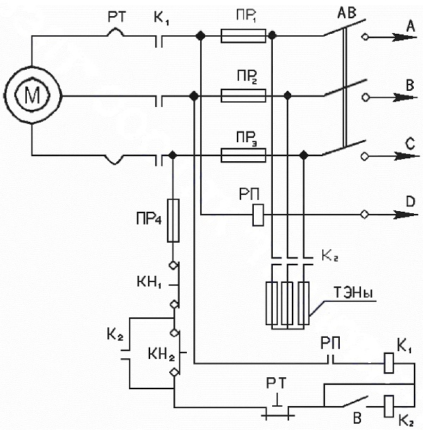 схема агрегата ЭКР.